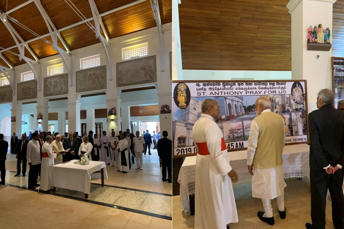 PM Narendra Modi, Sri Lanka, Lanka church, Easter Sunday bombings, Modi in Sri Lanka, St. Anthony's Shrine