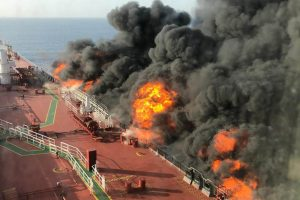 Two oil tankers hit in Gulf of Oman, all crew evacuated