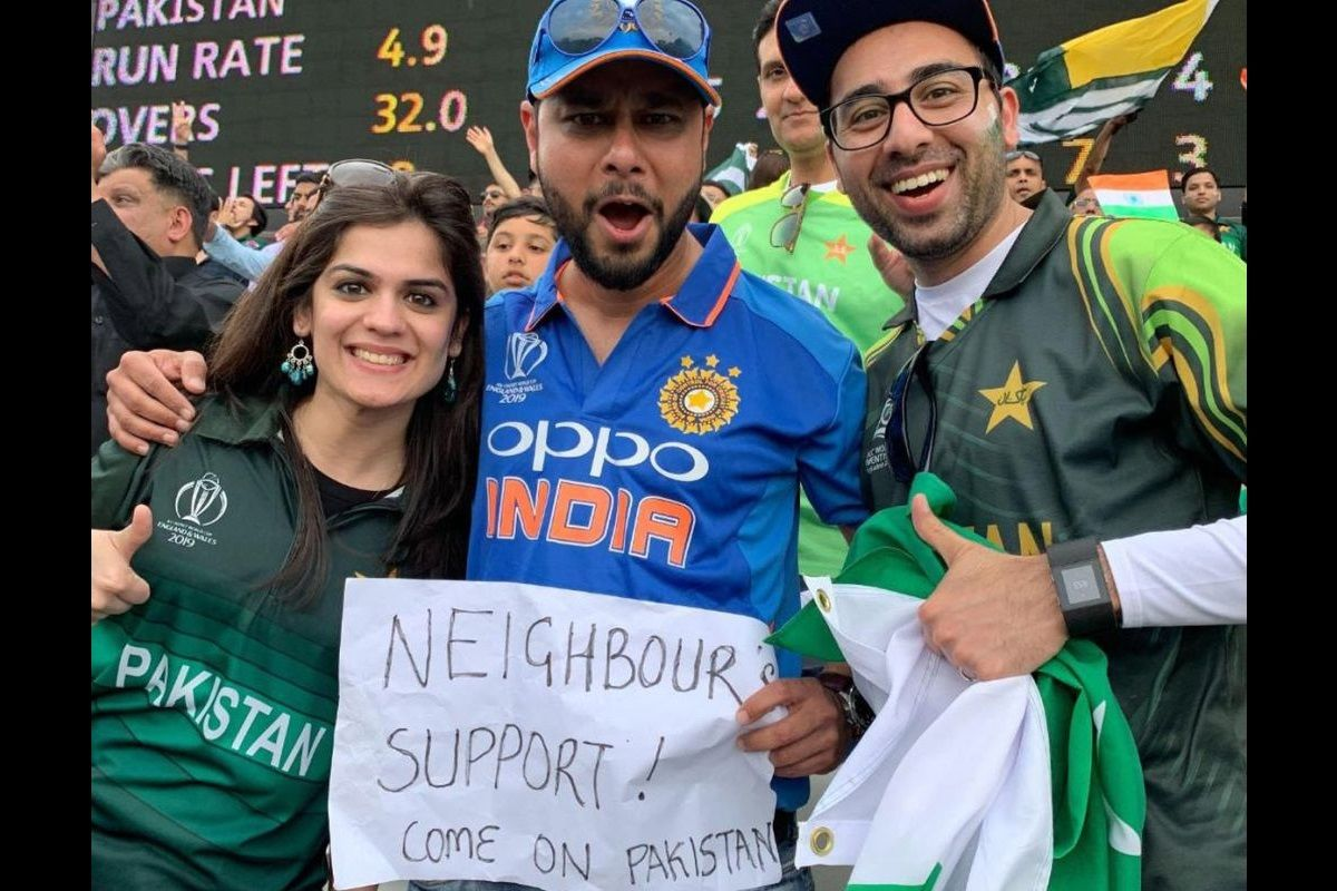 Pakistan fans to support India against England, one even