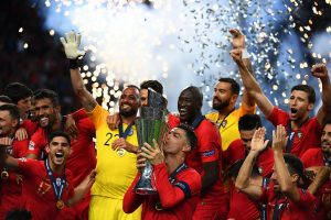 Portugal down Holland to win Nations League cup