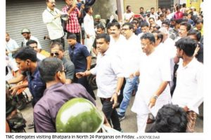 Residents vent anger as ministers visit Bhatpara