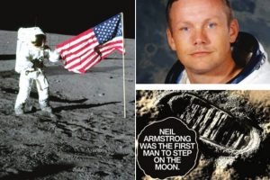 Our first footprint on the Moon