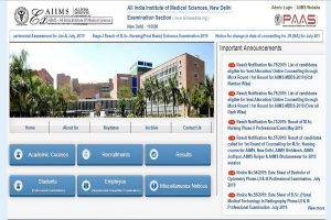 AIIMS MBBS results 2019 declared at aiimsexams.org | Direct link to check results here