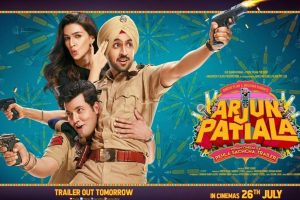 Arjun Patiala trailer out tomorrow, Diljit Dosanjh and Kriti Sanon latest poster out