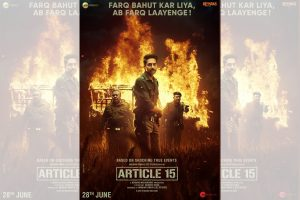 Ayushmann delighted with performance of 'Article 15'