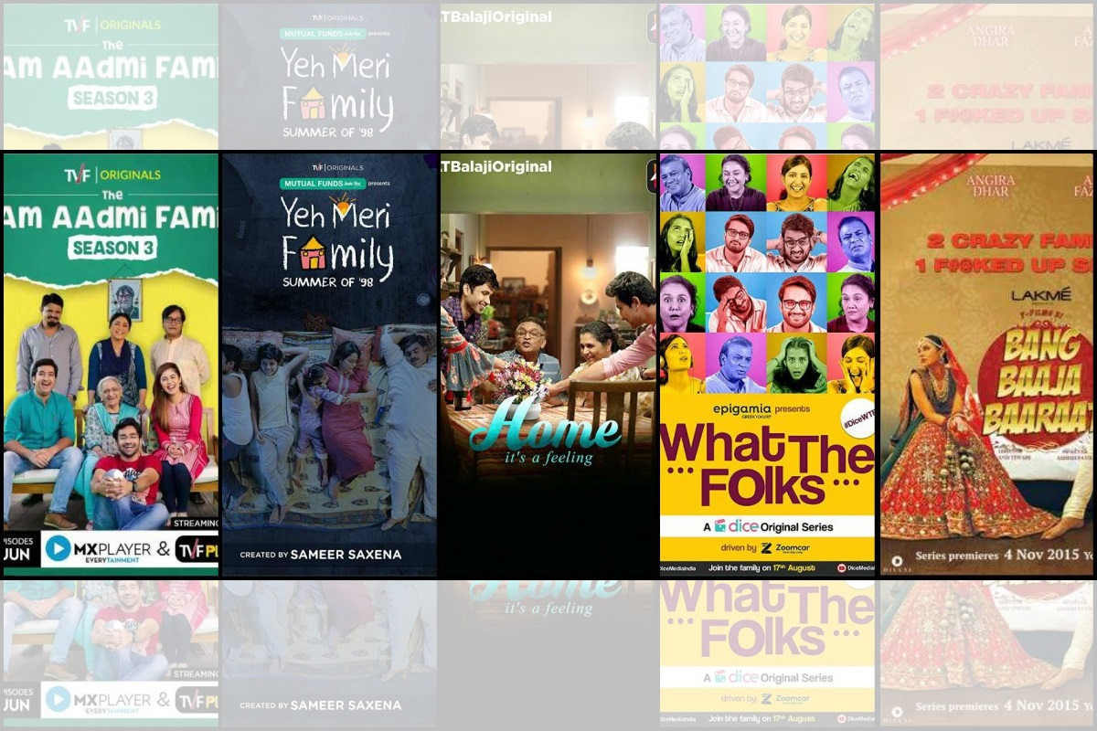 binge worthy, web series, ALT Balaji, The Aam Aadmi Family, Home, Yeh Meri Family, Bang Baaja Baarat, What the Folks, TVF, Dice Media, Y-Films