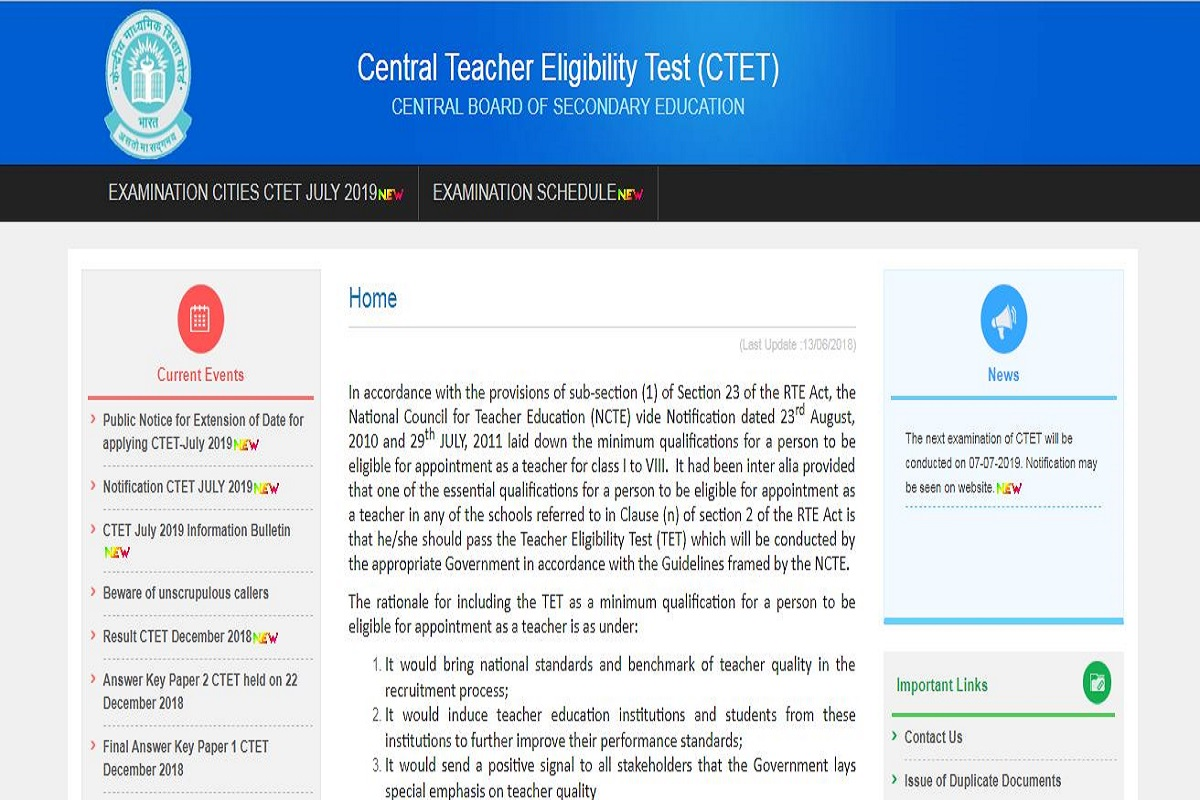 CTET admit cards 2019, Central Board of Secondary Education, CTET admit cards, ctet.nic.in, CTET 2019