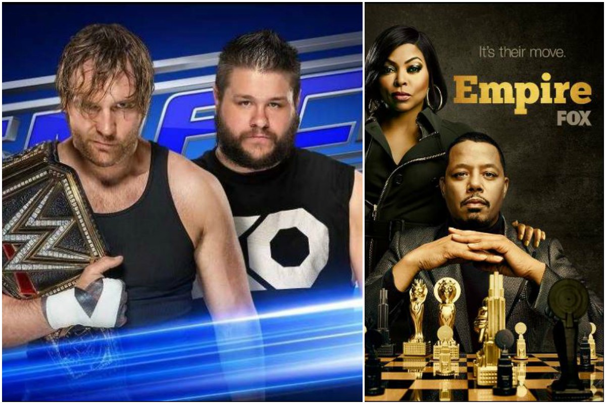 WWE'S Smackdown Live, Almost Family, The Masked Singer, Family Guy, Bob's Burgers, Bless the Harts ,The Simpsons, Thursday Night Football, Empire , The Resident, Prodigal Son, 911, Primetime Emmy Awards, Game of Thrones, Avengers, Fox, new schedule