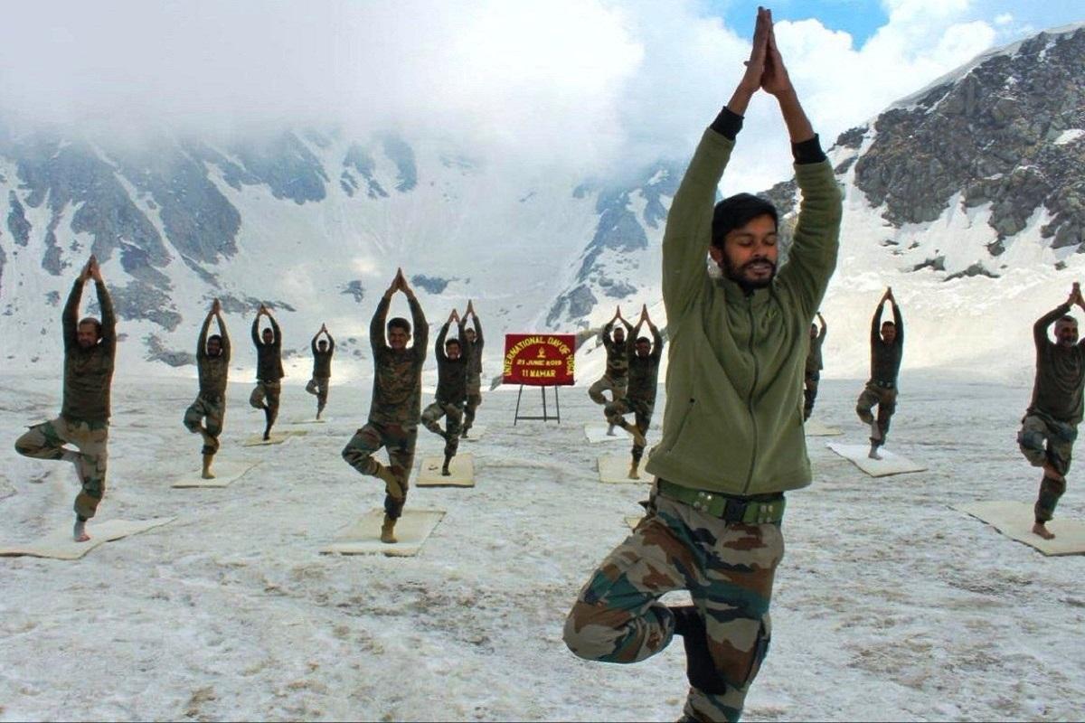 China, India, Yoga, Ladakh, Jammu, International Yoga Day, Line of Actual Control, LAC, Siachen, ITBP, BSF, CRPF, LOC, Kashmir