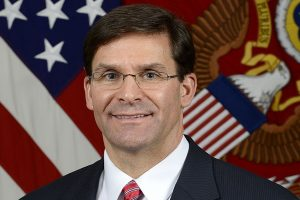 Mark Esper takes over at Pentagon as tensions with Iran flare