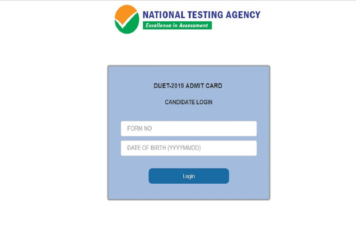 DUET admit cards 2019, National Testing Agency, DUET admit cards, du.ac.in, Delhi University entrance test admit cards