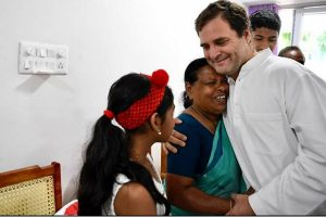 In Wayanad, Rahul Gandhi meets woman who cuddled him even before his parents