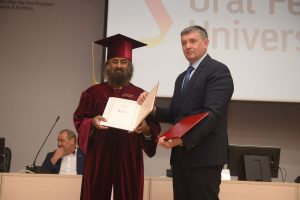 Sr Sri Ravi Shankar conferred with Honorary Doctorate by Ural Federal University