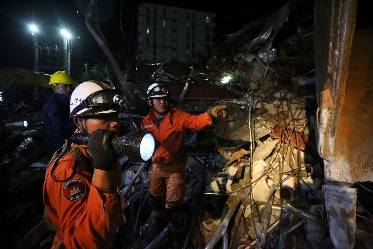 Rescuers scour rubble as Cambodia building collapse toll rises to 17