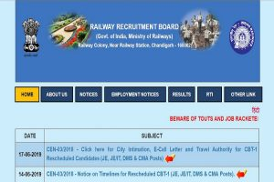RRB JE recruitment 2019: CBT exam rescheduled dates released at rrbcdg.gov.in, check details here