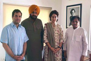 Amid rift with Punjab CM, Sidhu meets Rahul, Priyanka Gandhi
