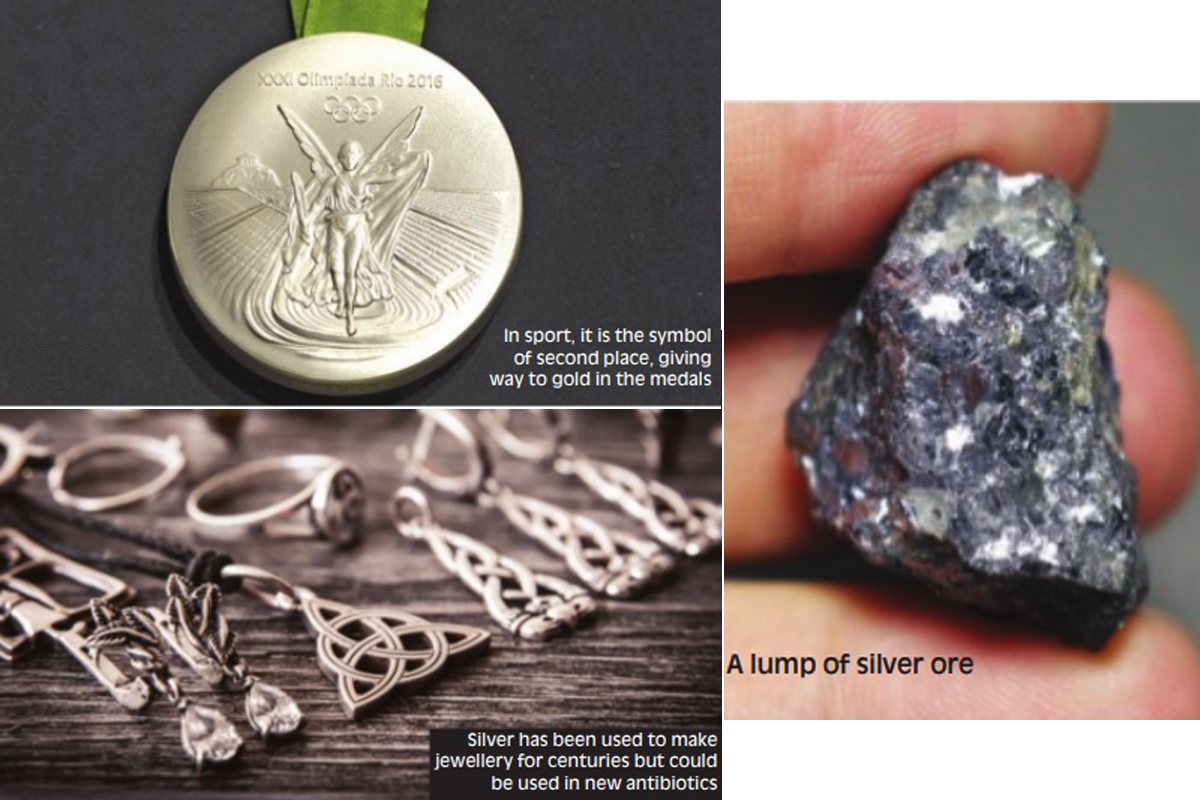 Silver, jewellery, credit cards, silver medical treatment, ores, Gold