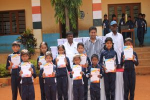 Distribution of free note books help students access to better education