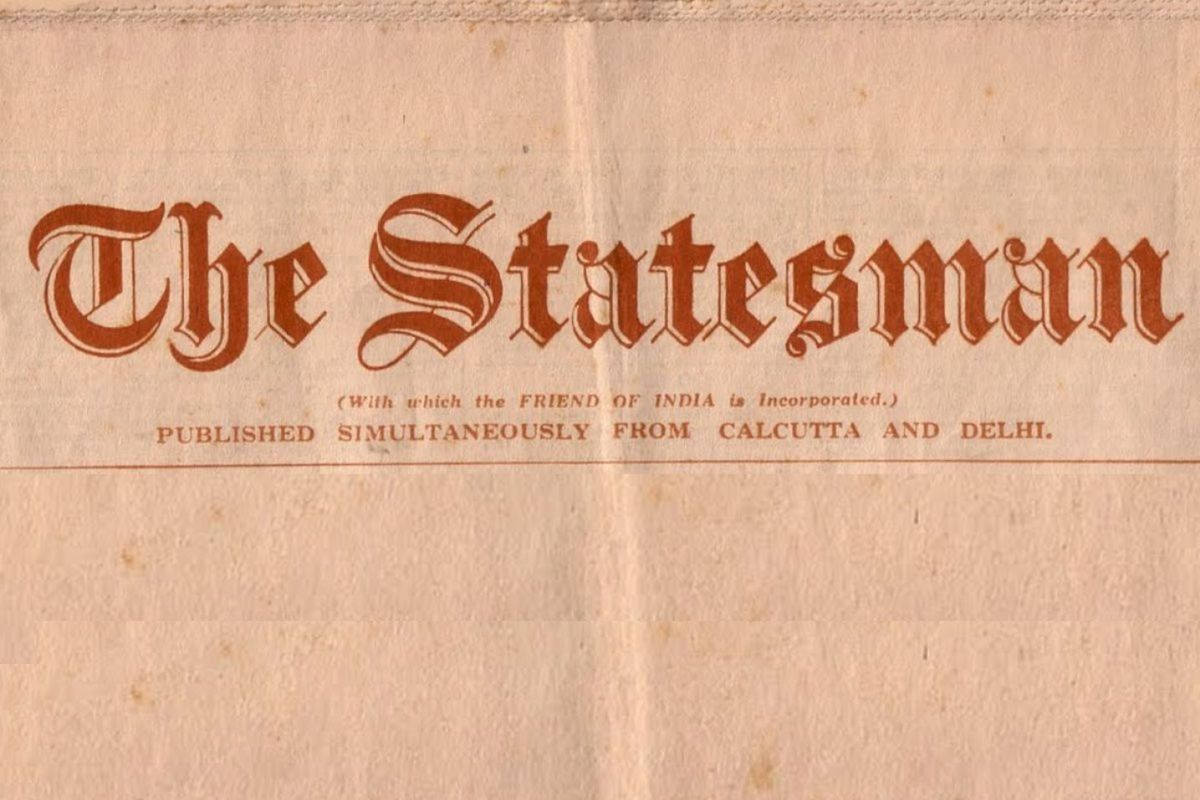 100 years ago, Statesman 100 Years Ago, The Statesman
