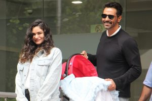 Tired but in love: Arjun Rampal's girlfriend Gabriella Demetriades