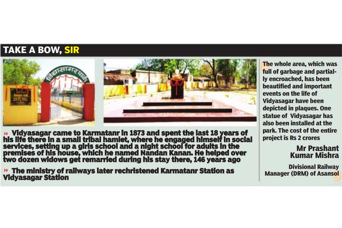 Vidyasagar College, Asansol Division, Karmatanr Station, Divisional Railway Manager