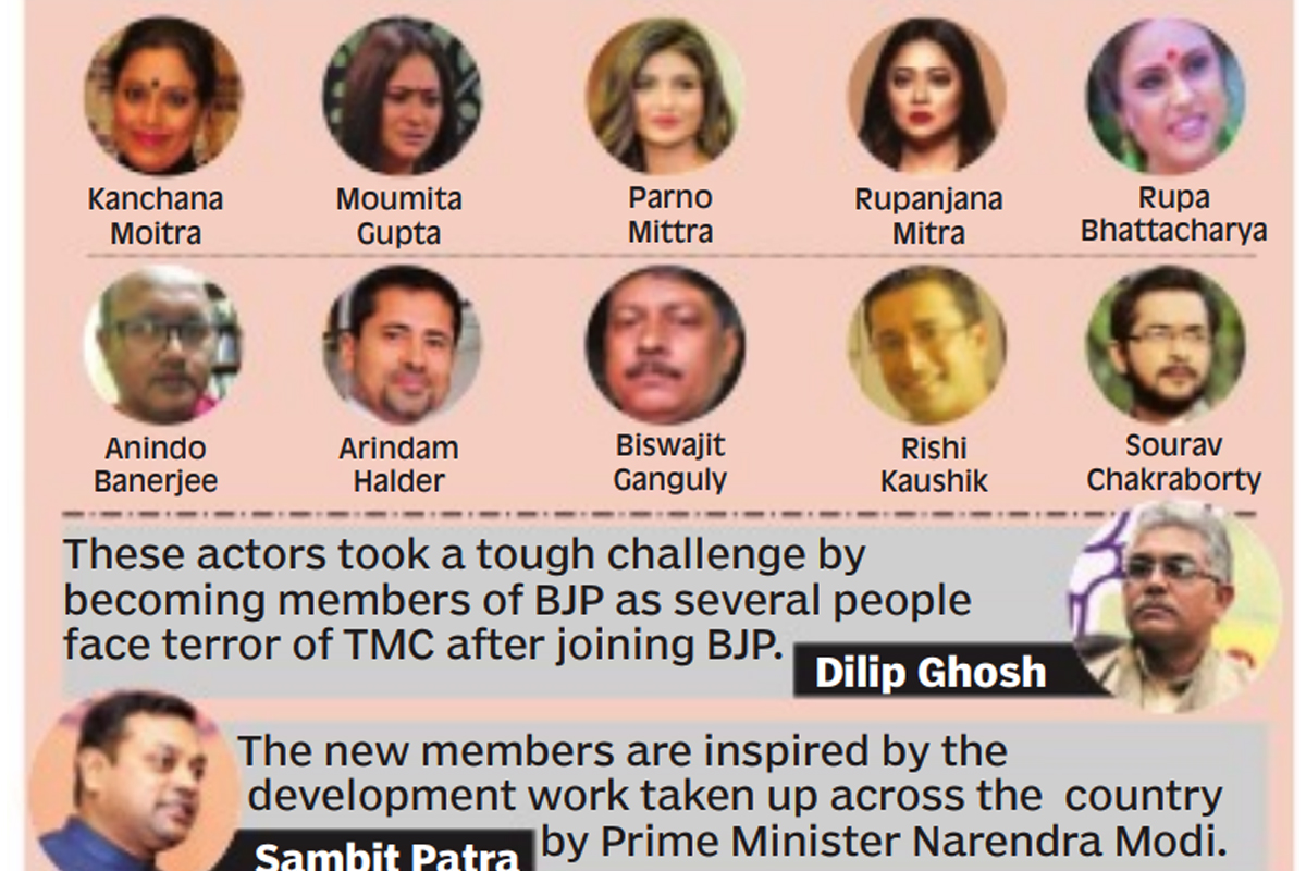 12 Tollywood actors join BJP