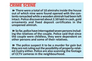 Netaji Nagar couple murdered