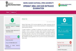 IGNOU OPENMAT, B. Ed entrance test admit cards 2019 to be released soon at ntaignou.nic.in