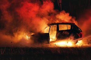 Delhi man charred to death after moving car catches fire