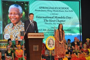 Springdales School in Dhaula Kuan celebrates International Mandela Day with a special assembly