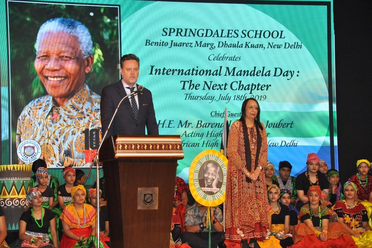 Springdales School, International Mandela Day, Dhaula Kuan, Mandela Day, Jyoti Bose, Springdales School Dhaula Kuan