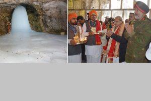 Amarnath pilgrimage begins with Governor Malik offering prayers