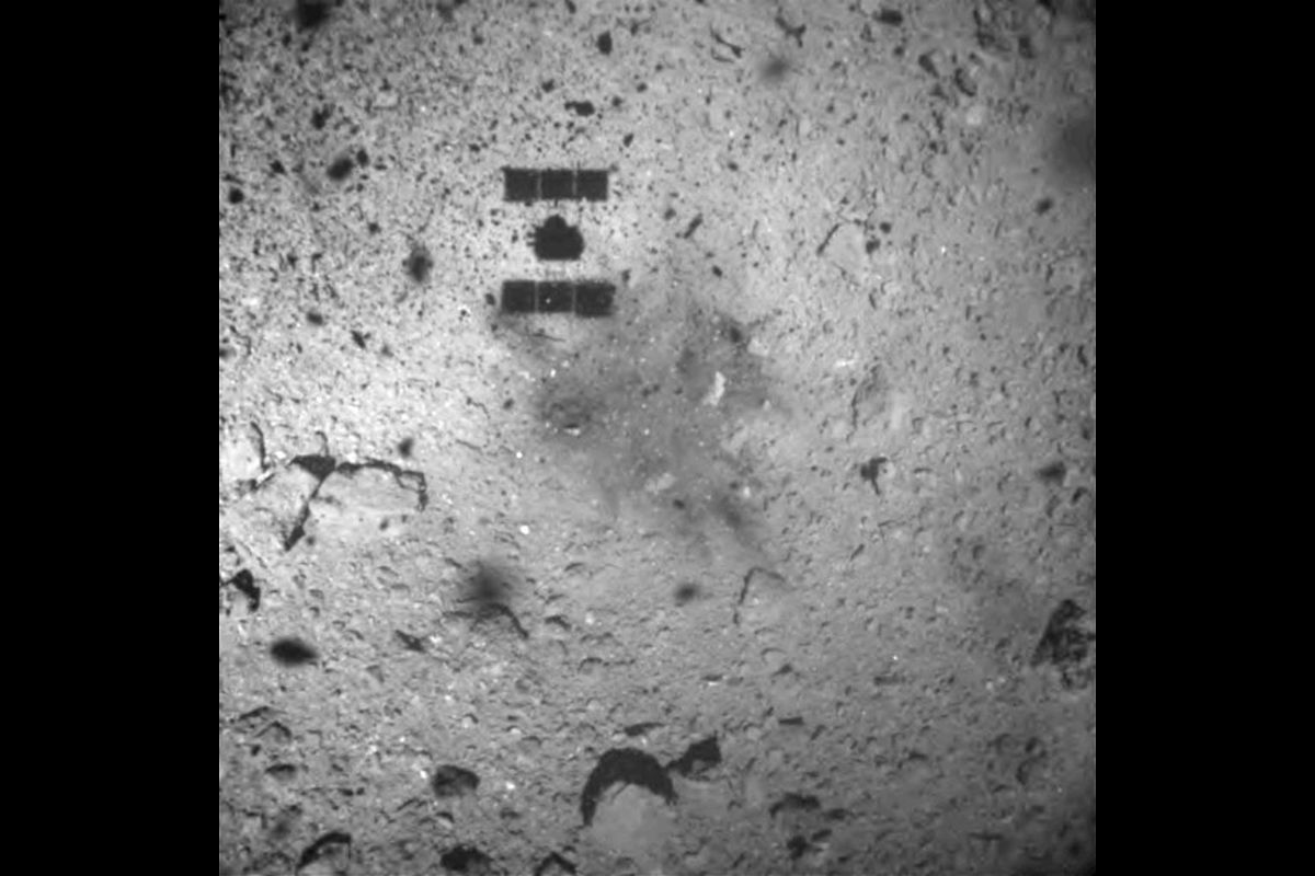 Japanese space probe Hayabusa2 takes underground samples from remote asteroid