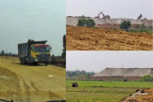 Jharsuguda-dump yard of polluting industrial garbage