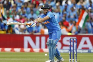 MS Dhoni spat blood while batting against England