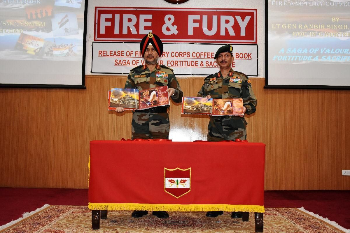 Coffee Table Book of Army Corps that won Kargil war released