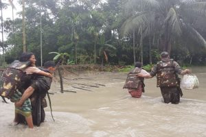 Assam Floods: Indian Army's flood rescue operations team saves 150 in Nalabari