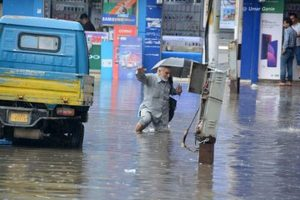 Rain blocks highways, hits electric and water supply in J&K