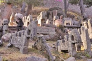 Mystery stone horses decaying in Pir-Panjal area of Jammu