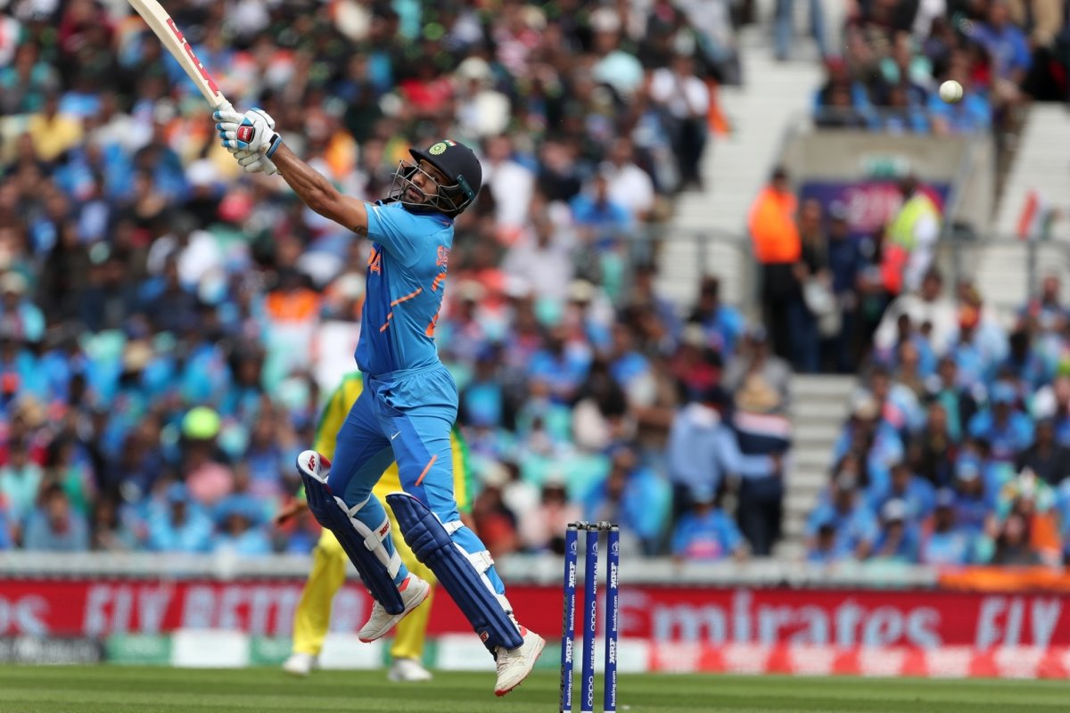 Shikhar Dhawan picks bat first time after injury for 'Bottle Cap Challenge'