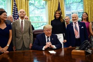 Donald Trump welcomes Apollo 11 astronauts Aldrin, Collins to White House
