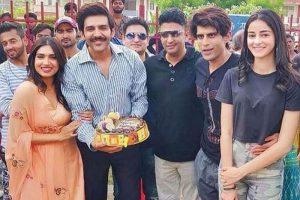 Bhumi Pednekar celebrates birthday on 'Pati Patni Aur Woh' sets in Lucknow, see pics