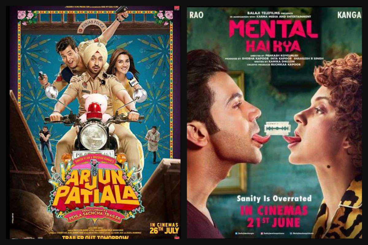 Judgementall Hai Kya, Arjun Patiala, Diljit Dosanjh, Kriti Sanon, Rajkummar Rao, Kangana Ranaut, box office, opening weekend, Prakash Kovelamudi, Rohit Jugraj