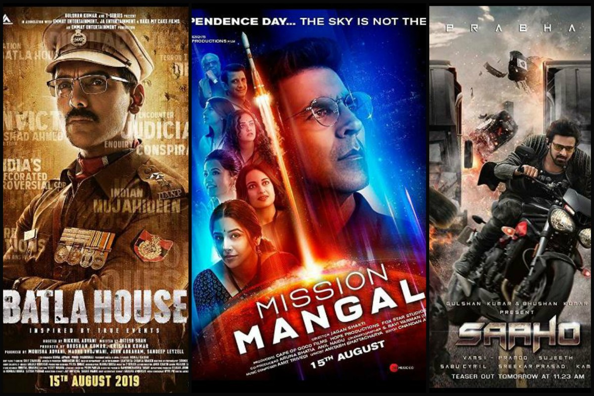 Image result for batla house vs mission mangal vs saaho