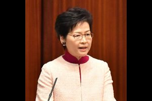 Hong Kong leader condemns clashes, calls protesters 'rioters'