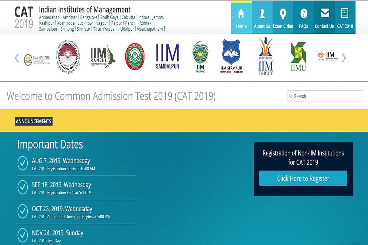 CAT 2019, CAT 2019 information, iimcat.ac.in, Indian Institute of Management, CAT 2019 examination, Common Admission Test 2019