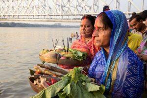 Pollution & politics merge during Chhath