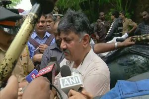 DK Shivakumar, waiting outside Mumbai hotel, detained by police; Section 144 imposed