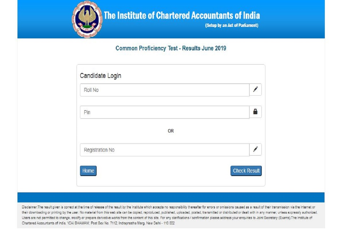 ICAI CA CPT results 2019, ICAI CA CPT results,CA CPT results 2019, Institute of Chartered Accountants of India, caresults.icai.org, icaiexam.icai.org