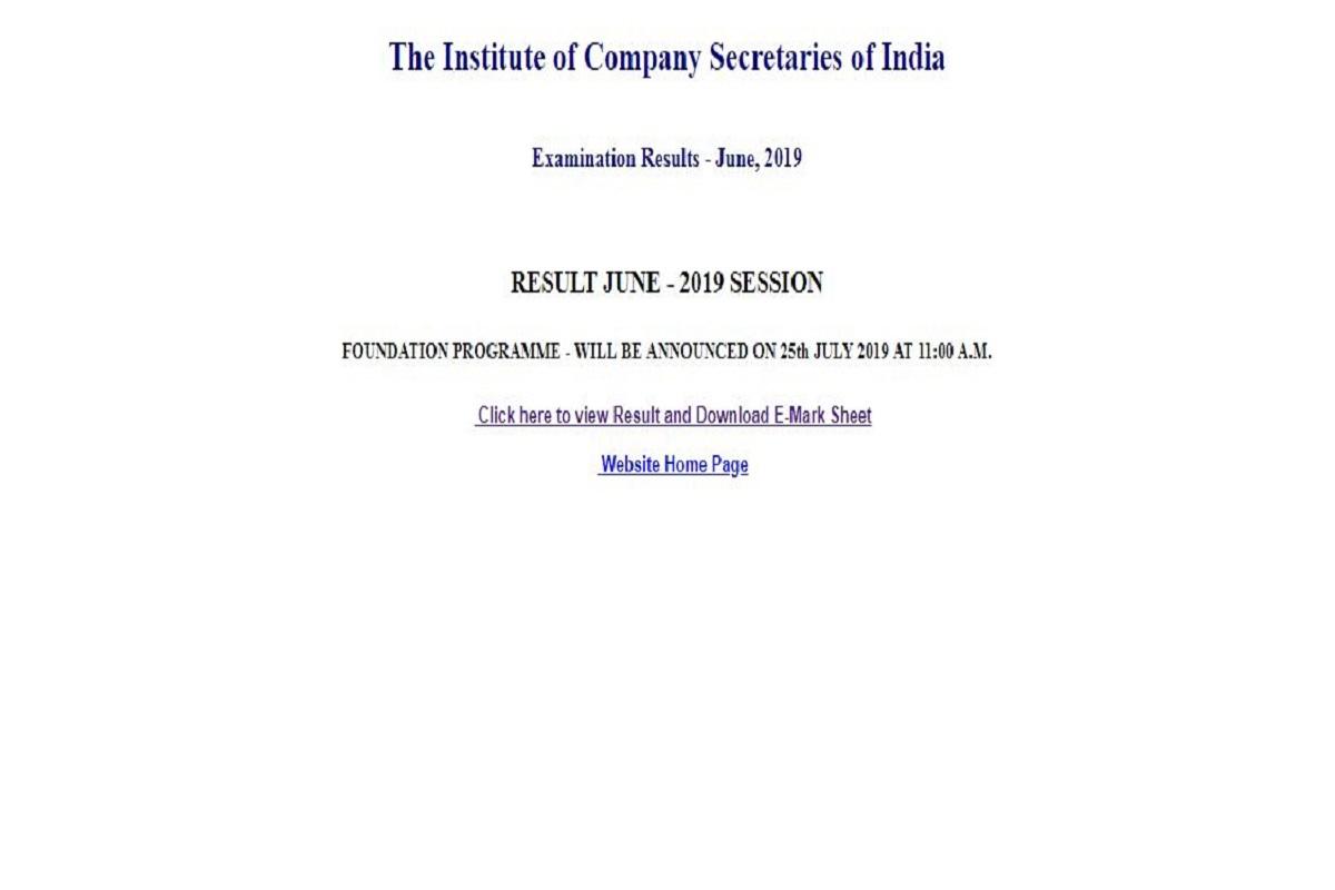 ICSI CS Foundation result 2019, icsi.edu, CS Foundation results, ICSI CS Foundation result, CS Foundation result 2019, Institute of Company Secretaries of India